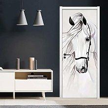 Azbza Cavallo Animale Bianco Astratto Adesivi Per