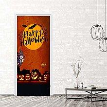 Azbza Halloween Arancione Adesivi Per Porte