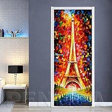 Azbza Torre Astratta Di Parigi Adesivi Per Porte