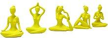 B Blesiya 5Pack Yoga Girl Decor Statua per Home