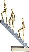 B Blesiya Art Stairs Thinker Scultura Figurina