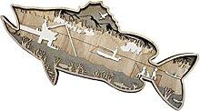 B Blesiya Decorazione da parete in legno di pesce