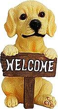 B Blesiya Giardino Statua Cane Segno di Benvenuto