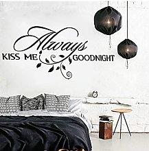 Baciami Per Sempre Buona Notte Amore Adesivo Da