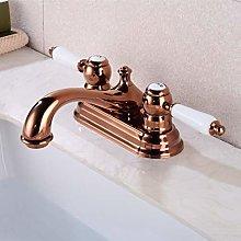 Bacino del bagno rubinetto in ottone doppia