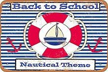 Back to School tema nautico retrò look 20x30 cm