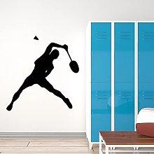 Badminton Adesivo da parete Giocatore di tennis