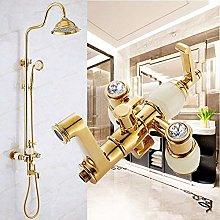 Bagno doccia rubinetto stile europeo placcato oro
