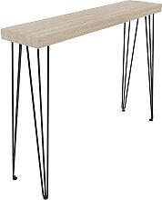 Bakersfield - Tavolo consolle in legno con gambe