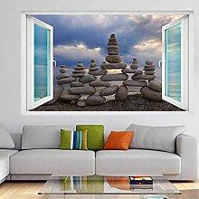 Balancing Stones Rocks Wall Art Stickers Adesivo