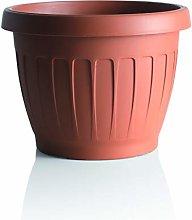 Bama 30085 Vaso per Piante, 25 cm, Terracotta