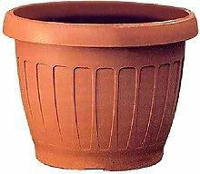 Bama Vaso in ABS, Color Terra Cotta, Ø 40 cm,