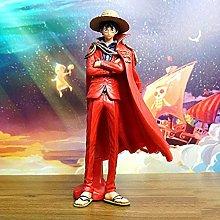 Bambola Altezza 25 cm One Piece Mantello Rosso