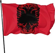 Bandiera albanese Bandiera da giardino Bandiera da