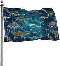 Bandiera con motivo a dinosauro 4x6 Ft Banner