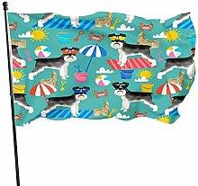 Bandiera da giardino 0,9 x 1,5 m con occhiali