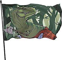 Bandiera da giardino, 1,5 m x 0,9 m, con dinosauro