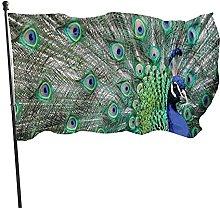 Bandiera da giardino, 1,5 m x 0,9 m, con pavone,