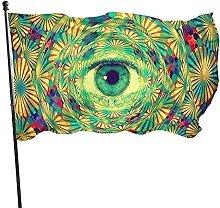 Bandiera da giardino, 1,5 m x 0,9 m, psichedelico,
