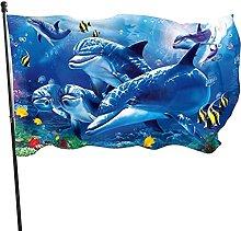 Bandiera da giardino, 1,5 m x 0,9 m, stile marino,