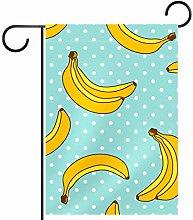 Bandiera da Giardino 12 x 18 Pollici Yellow Banana