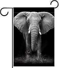 Bandiera da giardino 12x18 pollici,Elefante
