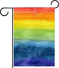 Bandiera da giardino 12x18 pollici,multicolore