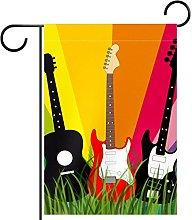 Bandiera da giardino 28x40 pollici,chitarra