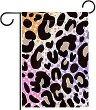 Bandiera da giardino 28x40 pollici,Leopardo