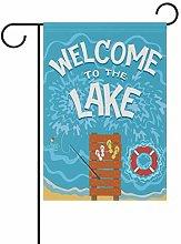 Bandiera da Giardino 30×45cm,Benvenuti a The Lake