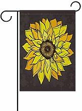 Bandiera da Giardino 30×45cm,Girasole giallo