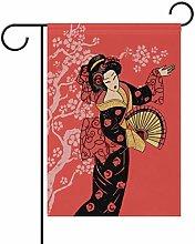 Bandiera da Giardino 70×102cm,Bella geisha