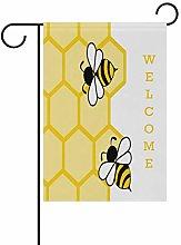 Bandiera da Giardino 70×102cm,Elegante carino api