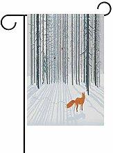 Bandiera da Giardino 70×102cm,Foresta invernale