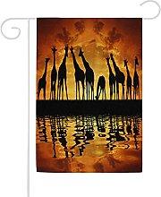 Bandiera da giardino, 71 x 101 cm, motivo: giraffa