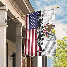 Bandiera da Giardino 90 x 150 cm, Illinois E