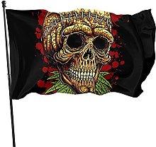 Bandiera da giardino a forma di teschio, con