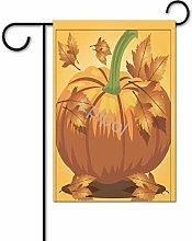 Bandiera da giardino a forma di zucca, bifacciale,