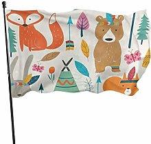 Bandiera da giardino Animali Con Piume Bandiera di