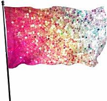 Bandiera da giardino arcobaleno glitterati