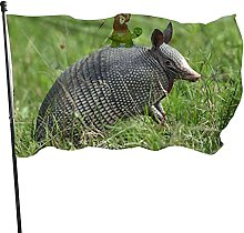 Bandiera da giardino Armadillo Bandiera da esterno