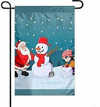 Bandiera da Giardino Babbo Natale con Pupazzo di
