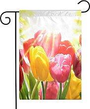 Bandiera da giardino Beautifu Tulipani colorati