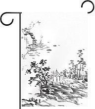 Bandiera da giardino bifacciale /28x40inch/