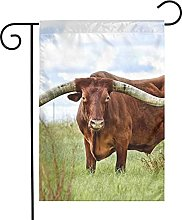 Bandiera da giardino Big Ox Horns House Yard