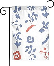 Bandiera da giardino Blu navy Plant House Yard