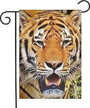 Bandiera da giardino Brown Tiger House Yard Banner
