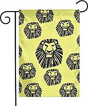 Bandiera da giardino Cartoon Cool Lion House Yard