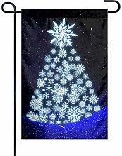 Bandiera da Giardino Christmas Snow Night 1