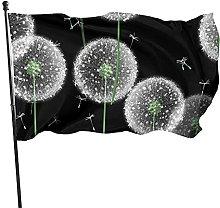 Bandiera da giardino con fiori di dente di leone